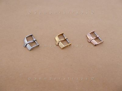 NOS Vintage Watch Buckle Steel Gold Rose Gold 16mm 18mm fits Rolex