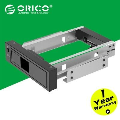 """ORICO 5.25"""" CD-ROM Space to 3.5'' SATA HDD Mobile Rack Bracket Drive Enclosure"""