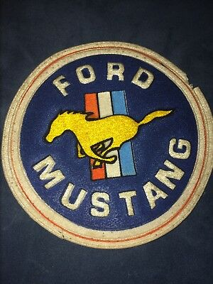 Very Rare Ford Mustang Logo Patch, Vintage , 1960s