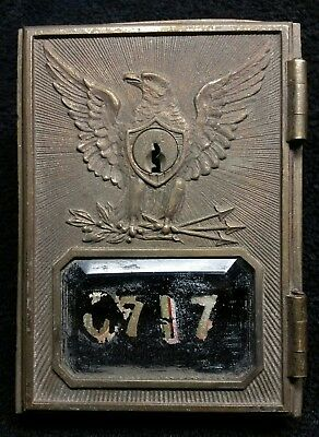 Antique Federal Eagle Post Office Mail Box Door 1892 Yale & Towne Bronze Brass