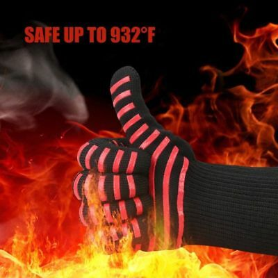 932°F Silicone Extreme Heat Resistant Proof Cooking Oven BBQ Grilling Glove