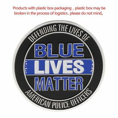 Blue Lives Matter Commemorative Coin Heroes Sacrifice Souvenir Collection Crafts