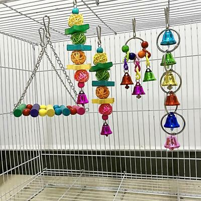 5pcs/Set Parrot Bird Toy Parts DIY Accessory Cage Budgie Swing Toys Making Craft