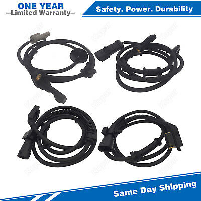 4PCS Front & Rear ABS Wheel Speed Sensor For 99-04 Jeep Grand Cherokee 4.0L 4.7L