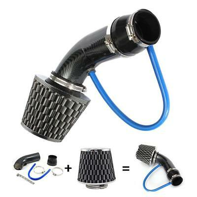 """3"""" Car Truck Racing Cool Air Intake System Filters +Pipes +Low Hose +Clamp Kit"""