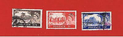Great Britain #309-311 VF used  Castles