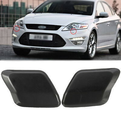 Bumper Headlight Headlamp Washer Jet Primed Cover Cap For Ford Mondeo MK4 07-10