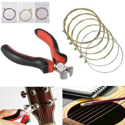 Acoustic Guitar Strings Standard Replacement Wires+Guitar Pliers String Cutter