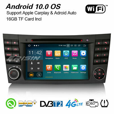 Android 8.1 Autoradio DAB+ BT DVR-IN 4G per Mercedes Benz E/CLS/G W211 W219 W463