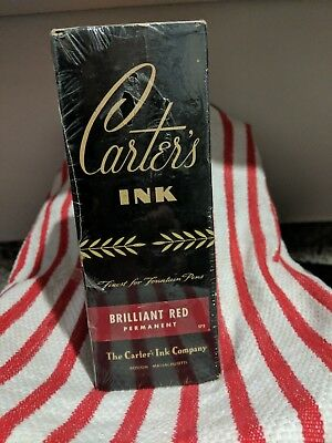 """Carters Master Ink """"BRILLIANT RED"""" In Orig.Box"""