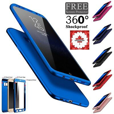 For Samsung S8 S9 Case Luxury 360 Hard Shockproof Case Cover+Screen Protector