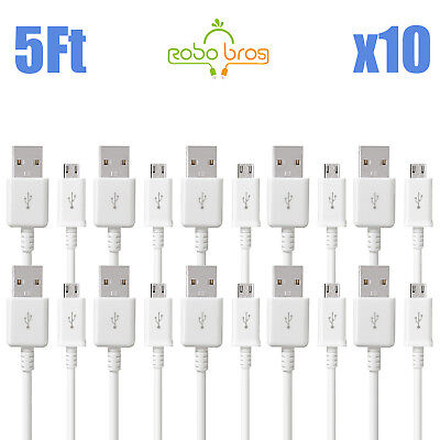 10x 5FT OEM Rapid Charge Micro USB Cable Fast Charging Cord For Samsung Android