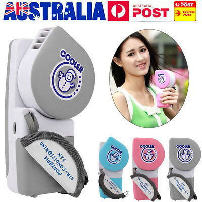 Mini Air Conditioner Cooler Cooling Fan Hand Held Portable USB/Battery Operated