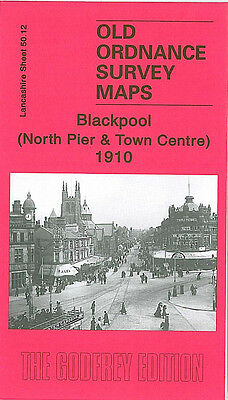 Old Ordnance Survey Map Blackpool North Pier & Town Centre Albert Road 1910