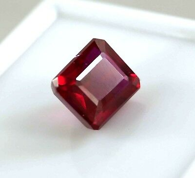 New Year Offer GGL Certified 7.50 Ct Natural Emerald Cut Red Mozambique Ruby Gem