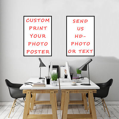 Custom DIY In Canvas Print Poster Your Photo Home Wall Room Decorative Xmas Gift