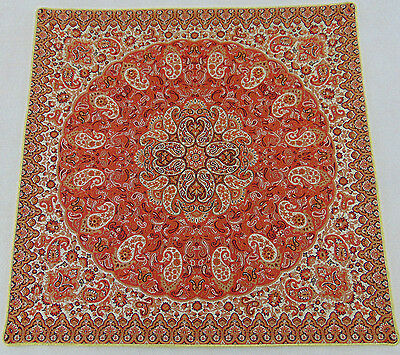 Persian Rug Style Cushion Woven Tapestry Authentic Art Silk Exotic Termeh Fabric