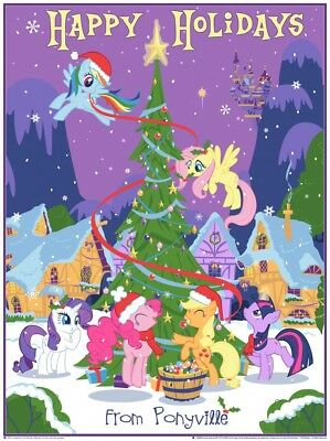 My Little Pony Official Limited Edition Hasbro Licensed Christmas Print $50 Obo!
