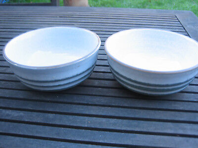 """Denby FJORD cereal bowls x 2 ~ 5.25"""" across ~ unused"""