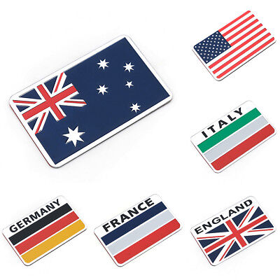 Generic Car Racing Sports Metal Emblem Badge Flag Alloy Car Motors Decal Sticker