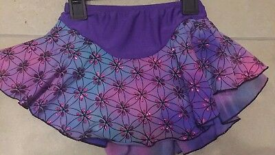 Age 8-10 Girls Purple Ice Skating Skirt - Worn Twice