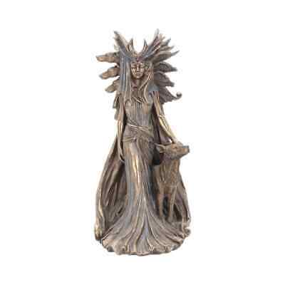 Hekate Bronze Goddess Greek Mythology Figurine Statue Wicca Moon Decor Nemesis