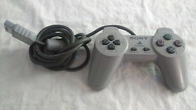 Official Sony Playstation 1 Controller Grey PS1 Not Dual Shock OEM EX Cond WORKS