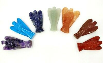 One (1) Set of Chakra Angel Set Guardian Angels Pocket Angels 2 inches