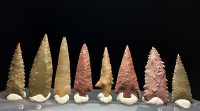 8 first grade NEOLITHIC arrowheads !!!