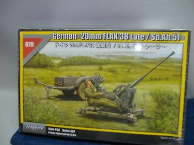 Tristar 029* German 20mm FLAK 38 Late/SD.Ah.51 1:35  Neu