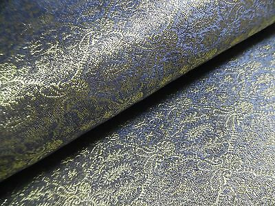 "JACQUARD SILK BROCADE~SMALL PRINT~LAVENDER/PEARL/GOLD~9""x22""~~DOLL DRESS FABRIC"