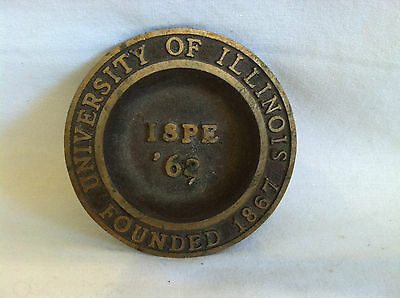 VINTAGE IlLLINOIS SOCIETY PROFESSIONAL ENGINEERS 1962 BRASS METAL DISH