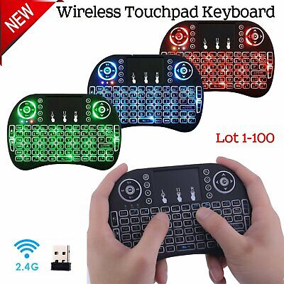 LOT i8 2.4GHz 3 Colors Backlit Wireless Keyboard Touchpad for PC TV Box Android