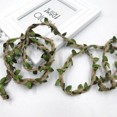 Olive Green Leaf Trim Wax Rope 10m Length For Craft Party Wedding Home Decor LH