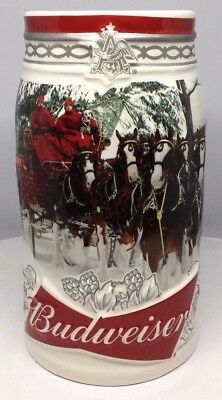 "2017 Budweiser Holiday Stein ""Holiday Retreat"" 38th Anniversary with COA"