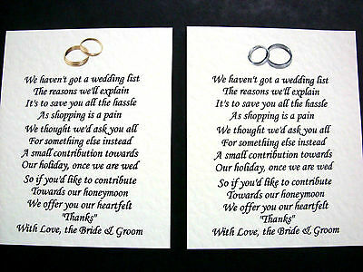 20 Wedding Poems Asking For Money Gifts Not Presents Ref No 2