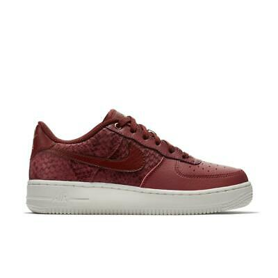 Juniors NIKE AIR FORCE 1 LV8 Port Red Trainers 820438 604