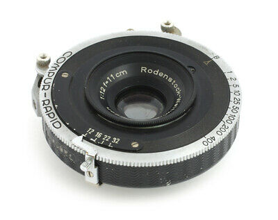 Rodenstock Weitwinkel Perigon 12/110 mm #2297401 Wide Angle Compur Rapid Lens