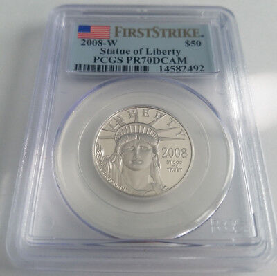 2008-W $50 (1/2 oz) Proof American Platinum Eagle PCGS PR70DCAM First Strike