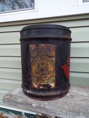 """RARE-Antique Berry Brothers 5 Gallon Can/Metal- """"Berryloid"""" Varnish w/ Labels!"""