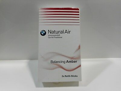 Original BMW Natural Refill Kit Innenraumduft ''Balancing Amber''. 1 Stick=2,83€