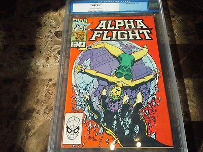 Alpha Flight 4 CGC 9.6 NM+ John Byrne Marina