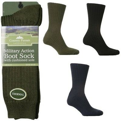 2 Mens Thermal Padded Sole 40/% Wool Rich Commando Army Combat Socks UK 6-11