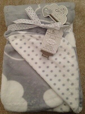 Reversible Soft Touch Velour Baby Blanket Moses Basket