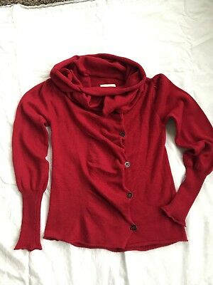 Persnickety Girls Sweater Size L 14 Red Cowl Neck Or Hood
