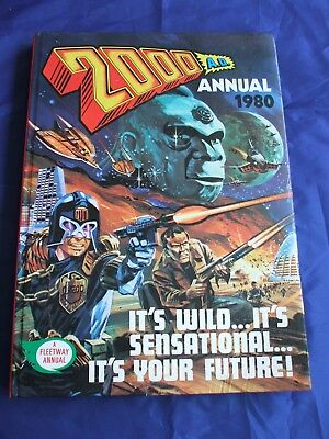 2000AD ANNUAL 1980, Hardback, Vintage SciFi, Retro, Comic Book, Judge Dredd