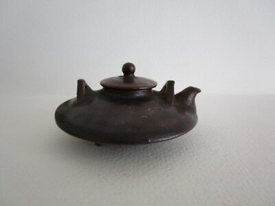 "OLD JAPANESE WATER DROPPER(SUITEKI)PAPER WEIGHT ""SAKE WARMER TYPE SATSUMA"" s-11"
