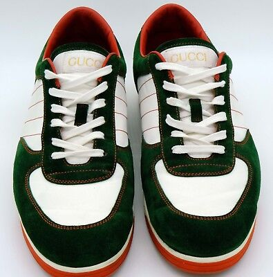 d807203e7 Gucci Mens 1984 Low Top Sneaker Size US 10.5 Gucci Green Suede & White -  MINT