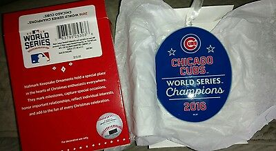 Chicago Cubs 2016 World Series Champions Ornament~Hallmark~Ships Now~New In Box
