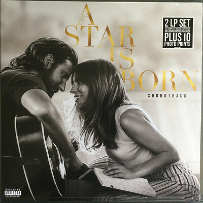 Lady Gaga Bradley Cooper A Star Is Born Double Vinyl Lp + Prints Soundtrack